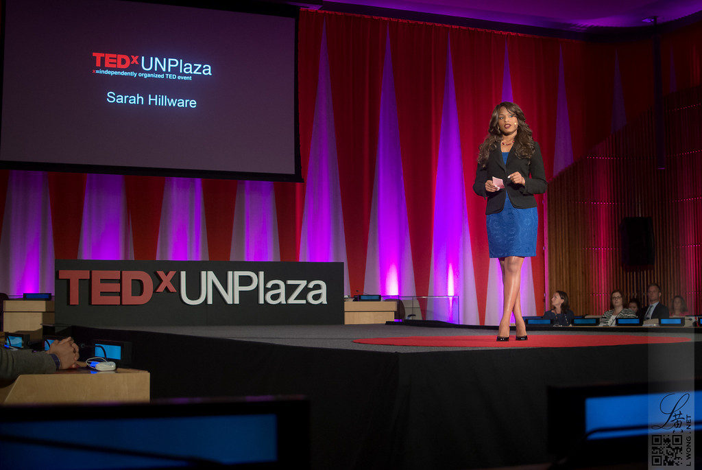 Speaking at TEDxUNPlaza at the United Nations Headquarters